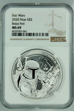 NGC MS69 2020 BOBA FETT 1 oz SILVER $2 NIUE STAR WARS MANDALORIAN BOUNTY HUNTER