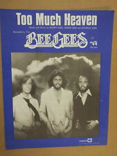 song sheet TOO MUCH HEAVEN BeeGees 1978