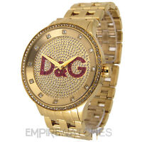 *NEW* DOLCE & GABBANA MENS D&G PRIME TIME GOLD GLITZ WATCH - DW0377 - RRP £295