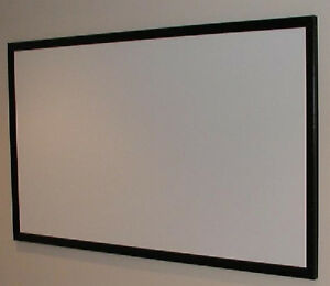 "72""x138"" PRO GRADE 1.0 GAIN PROJECTION PROJECTOR SCREEN BARE MATERIAL USA MADE!!"