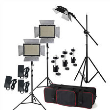 3pcs Yongnuo YN600L II 3200-5500K LED Video Light Kit + Stand +Boom Arm +Adapter