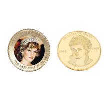 Pure Gold Color Coin Princess Diana 20th Anniversary Souvenir Coin Collections