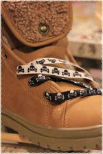 Coppia Stringhe scarpe colori Fashion BIANCHE NERE TESCHI 115 cm *shoes strings