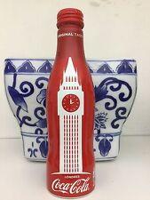 RED ALUMINUM COKE BOTTLE Big Ben LONDON full & capped