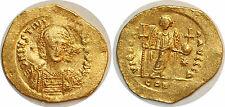 JUSTINIEN Ier Solidus VICTORI- A AVGGGH +527 Constantinople