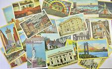25 x 1910s - 1960s Vintage Topographical Postcards New York America Iconic USA