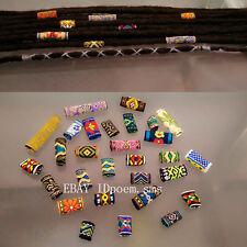 15 Pcs Colourful Dread Dreadlock Beads Mix Hair Braid Cuff Clip Hole