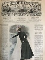 French MODE ILLUSTREE SEWING PATTERN March 6,1898 TOILETTE DE PROMENADE
