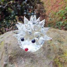 Artificial Glass Crystal Hedgehogs Paperweight Crafts Art&Collection Table Decor
