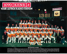 1981 HOUSTON ASTROS 8X10 TEAM PHOTO PICTURE