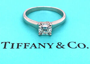 Tiffany & Co Lucida Engagement Ring .76ct F-VS1 Diamond Solitaire