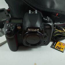 Nikon d100 6.1mp fotocamera reflex digitale SOLO CORPO NERO