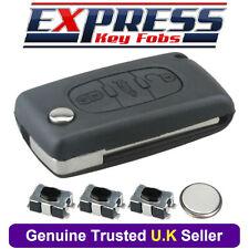 Peugeot 3 Button Remote Key Fob Case Repair Kit Fits 207 307 308 407 408 + Logo