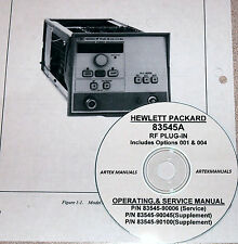 HP  83545A RF PLUG-IN Operating  & Service Manual  (Good Schematics)