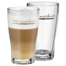 WMF Latte Macchiato Glas Set 2 Stück Barista mit Aufdruck Glas Glassen Beer
