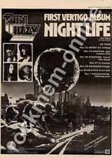 Thin Lizzy Night Life 6360 116 Art College, Derby  MM4 LP/Tour Advert 1974