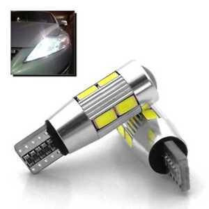 2 x Bombillas 10 LED SMD Blanco Canbus NO ERROR W5W T10 5630 Posicion Matricula