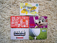 Gift Cards, Collectible, five cards, new, unused, no value on the cards (N)