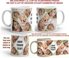 CUSTOM PHOTO PERSONALISED MUG COLLAGE PICTURES PHOTOS COFFEE CUP