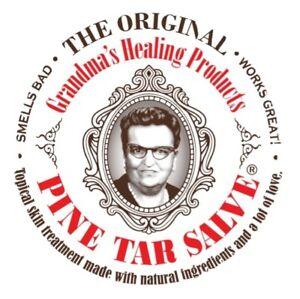 Grandmas Healing Products 1oz- Pine Tar Salve - A Black Drawing Ointment