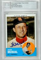 STAN MUSIAL Autograph 2012 Topps Heritage Player Sample #ROA-SM HOF CARDINALS