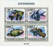 Timbres Poissons Burundi 2110/3 ** année 2013 lot 2671 - cote : 16 €