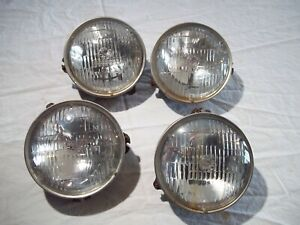 "ORIGINAL GM FRONT HEADLIGHT HEAD LIGHT LAMP 5 3/4"" BUCKET TRIM RING SET A B C D"