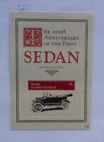 2013 St VINCENT & GRENADINES 100th ANNIV 1st SEDAN CAR MUSTIQUE STAMP MINI SHEET
