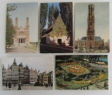 5x Belgien Belgium alte Postkarten Lot ab 1953 ua. Brügge, Bruxelles, Ostende