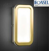 LED Wandlampe mit Schalter Wohnzimmer Wand Leuchte messing Wandstrahler gold