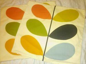 Genuine. X 2 Orla Kiely House Cushion Cover Multi Stem Multi Retro 100% Cotton