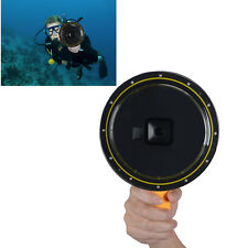 Underwater Waterproof Diving Camera Lens Dome Port Case + Hand Grip for GoPro 5