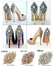 Vestido de Novia motivo del Rhinestone vestido de ajuste cuentas Zapatos Decoración Cristal Apliques De Bricolaje