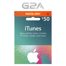 iTunes Gift Card $50 USD Key - 50 Dollar US Apple Store Code for iPhone iPad Mac