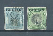 Labuan 1897 2c as sg.90 but perf 15 and sg.92a perf 14.1/2 used c.d.s..