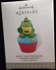 "NIB 2016 ""Lucky Leap-Rechaun"" HALLMARK 8th Monthly Cupcake Series Ornament NEW"