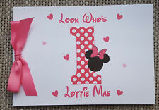 PERSONALISED MINNIE - MICKEY - 1ST BIRTHDAY GUEST BOOK - MEMORY BOOK - GIFT IDEA