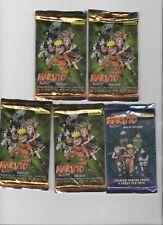 NARUTO PREMIUM TRADING CARD LOT (5) UNOPENED Packs (PANINI) 2002