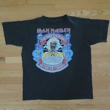 VINTAGE ORIGINAL IRON MAIDEN TEE SHIRT 1990 UP THE IRONS BLACK SIZE XL