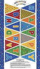 "Moda FABRIC Quilt Panel ~ BEARY HAPPY BIRTHDAY ~ Berenstain Bears  24""X 45"""
