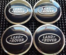 Land Rover, 4 X, Center Cap, HubCap, Black Oval, Chrome Logo, 63MM, # 5
