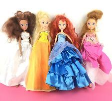 Lot 4 Winx Club Doll Bloom Layla Stella Flora Magical Adventure Princess