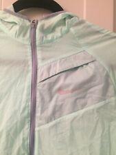 Women's Nike Running Waterproof Raincoat Light Green Size Small