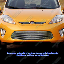 Fits 2011-2013 Ford Fiesta Hatchback Billet Grille Grill Insert Combo