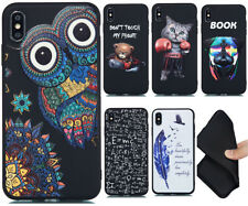 Non-slip Shockproof Patterned Silicone Rubber Back Case TPU Cover Lot Bumper GF3