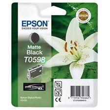 NEW Genuine Epson T0598 Matte Black Ink Stylus R2400