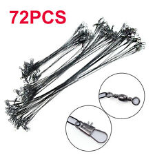 72x Fishing Lures Leader Stainless Wire Trace Set Spinning Pike Line 16/23/31cm