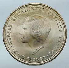1968 DENMARK King Frederick IX Silver Princess ANNE MARIE WEDDING Coin i85517