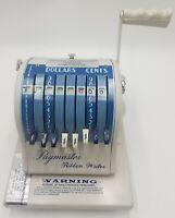 Vintage Paymaster Ribbon Writer Check Writer Series 8000 F.O.B. Chicago