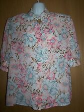 Women's Blouse/Top by Jordan Sz 9/10 Short Sleeve Polyester Nice Condition
